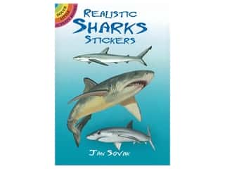 books & patterns: Dover Publications Little Realistic Sharks Stickers Book