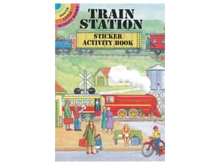 Dover Publications Little Train Station Sticker Activity Book