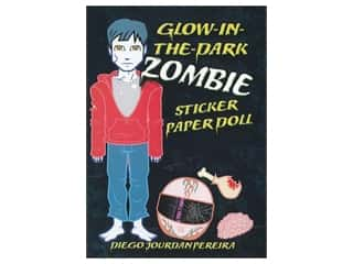 Dover Publications Glow-In-The-Dark Zombie Sticker Paper Doll Book