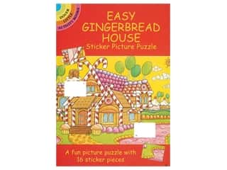 Dover Publications Little Easy Gingerbread House Sticker Book
