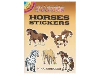 Dover Publications Little Glitter Horses Sticker Book