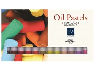 art, school & office: Pro Art Oil Pastel Set Jumbo 12 Bright Color
