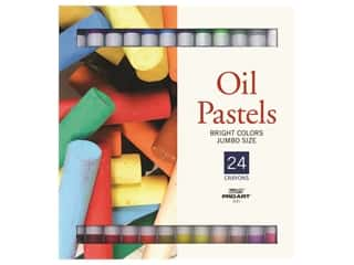 Pro Art Oil Pastel Set Jumbo 24 Bright Color