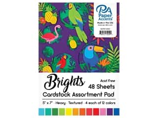 scrapbooking & paper crafts: Paper Accents 5 x 7 in. Cardstock Pad 48 pc. Bright