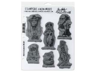 Stampers Anonymous Tim Holtz Cling Mount Stamp Set - Monster Reunion