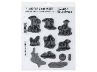 Stampers Anonymous Tim Holtz Cling Mount Stamp Set - Tiny Toadstools