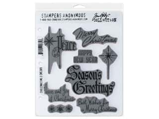 Stampers Anonymous Tim Holtz Cling Mount Stamp Set - Christmastime #2