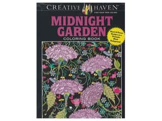 floral & garden: Dover Publications Creative Haven Midnight Garden Coloring Book