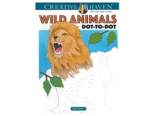Dover Publications Creative Haven Wild Animals Dot-to-Dot Book