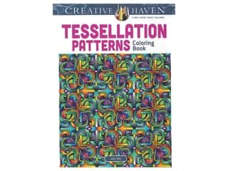 books & patterns: Dover Publications Creative Haven Tessellation Patterns Coloring Book