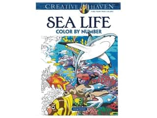 books & patterns: Dover Publications Creative Haven Sea Life Color By Number Coloring Book