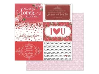 scrapbooking & paper crafts: Photo Play 12 x 12 in. Paper Be Mine Follow Your Heart (25 pieces)