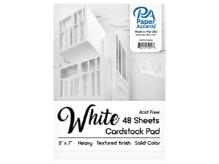 scrapbooking & paper crafts: Paper Accents 5 x 7 in. Cardstock Pad 48 pc. White