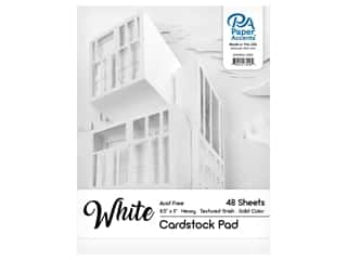 scrapbooking & paper crafts: Paper Accents 8 1/2 x 11 in. Cardstock Pad 48 pc. White