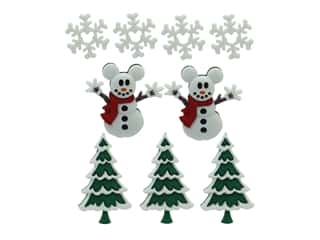 craft & hobbies: Jesse James Dress It Up Embellishments Disney Mickey Snowmen