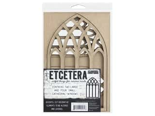 Stampers Anonymous Tim Holtz Chipboard Cathedral Windows