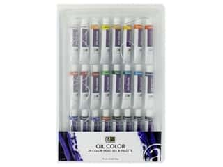 Art Advantage Oil Paint Set With Palette 24 Color