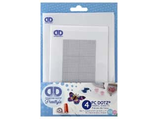 Diamond Dotz Freestyle Fabric Grid & Adhesive 5 in. x 7 in. & 4 in. x 6 in. 4 pc