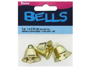 Darice Bells Liberty 1 in. Gold 3 pc