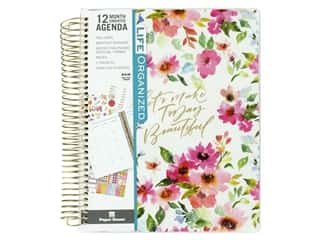 scrapbooking & paper crafts: Paper House Collection Life Organized Planner 12 Month Weekly Calendar Floral