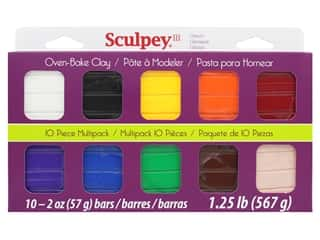 craft & hobbies: Sculpey III Clay Multipack 10 pc. Classic