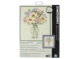 yarn & needlework: Dimensions Counted Cross Stitch Kit 12 x 14 in. Flowers In Tall Vase