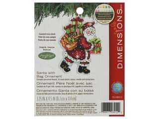 yarn & needlework: Dimensions Cross Stitch Kit Susan Winget Ornament Santa With Bag