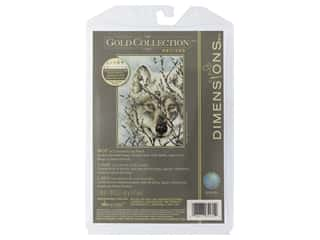 yarn: Dimensions Cross Stitch Kit Gold Collection 5 in. x 7 in. Wolf