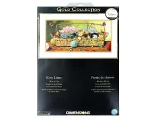 projects & kits: Dimensions Cross Stitch Kit Gold Collection 18 in. x 9 in. Kitty Litter