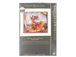 yarn & needlework: Dimensions Counted Cross Stitch Kit 14 x 12 in. Fall Fairy