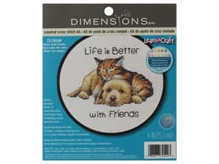 projects & kits: Dimensions Cross Stitch Kit 6 in. Better With Friends