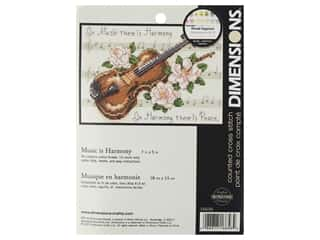 projects & kits: Dimensions Cross Stitch Kit 7 in. x 5 in. Music Is Harmony