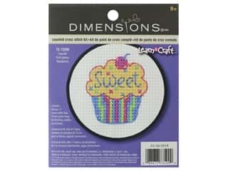 yarn & needlework: Dimensions Cross Stitch Kit 3 in. Cupcake