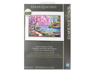 projects & kits: Dimensions Cross Stitch Kit Gold Collection 15 in. x 10 in. Cherry Blossom Creek