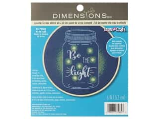 yarn & needlework: Dimensions Cross Stitch Kit 6 in. Be The Light
