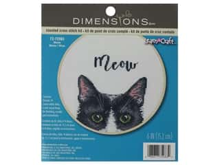 projects & kits: Dimensions Cross Stitch Kit 6 in. Meow