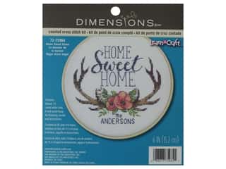 projects & kits: Dimensions Cross Stitch Kit 6 in. Home Sweet Home