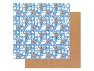 Cardstock: Doodlebug Collection Winter Wonderland Paper 12 in. x 12 in.  Snow Cozy (25 pieces)