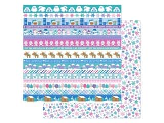 scrapbooking & paper crafts: Doodlebug Collection Winter Wonderland Paper 12 in. x 12 in. Snow Wonder (25 pieces)