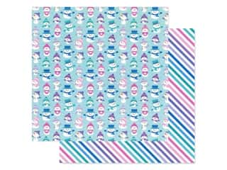 designer paper: Doodlebug Collection Winter Wonderland Paper 12 in. x 12 in. Just Chillin' (25 pieces)