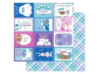 scrapbooking & paper crafts: Doodlebug Collection Winter Wonderland Paper 12 in. x 12 in. Cozy Cardigan (25 pieces)