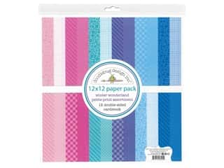 scrapbooking & paper crafts: Doodlebug Collection Winter Wonderland Paper Pack 12 in. x 12 in. Petite Print