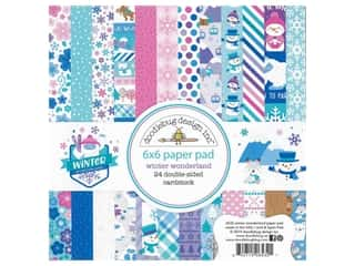 Doodlebug Collection Winter Wonderland Paper Pad 6 in. x 6 in.