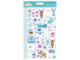 scrapbooking & paper crafts: Doodlebug Collection Winter Wonderland Sticker Mini Icons