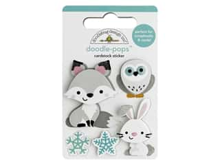 Doodlebug Collection Winter Wonderland Doodle Pop Foxy & Friends