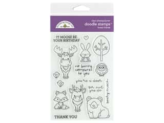 Doodlebug Collection Winter Wonderland Doodle Stamps Forest Friends