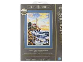 yarn & needlework: Dimensions Cross Stitch Kit Gold Collection 11 in. x 17 in. Rocky Point