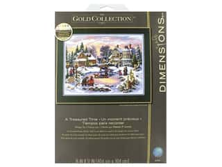 yarn & needlework: Dimensions Cross Stitch Kit Gold Collection 16 in. x 12 in. A Treasured Time