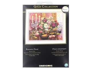 yarn & needlework: Dimensions Cross Stitch Kit Gold Collection 16 in. x 13 in. Romantic Floral