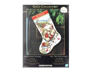 projects & kits: Dimensions Cross Stitch Kit Gold Collection Stocking Santa's Journey